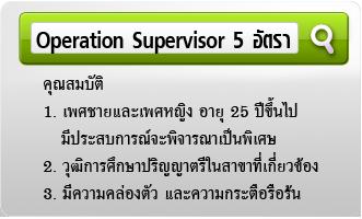 รับสมัครงาน Operation Supervisor